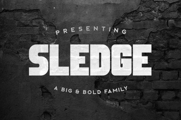 Download Sledge Typeface font (typeface)