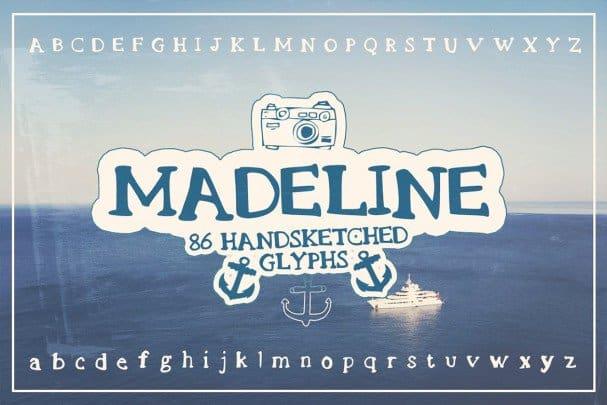 Download Madeline Handsketched Font font (typeface)