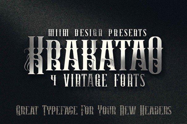 Download Krakatao - Vintage Font font (typeface)
