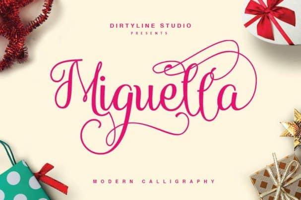 Download Miguella Script font (typeface)