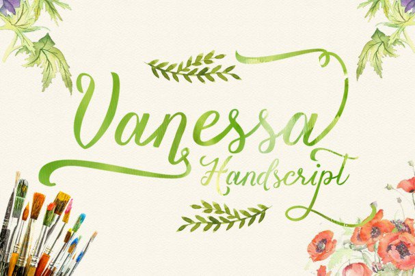 Download Vanessa handscript font (typeface)