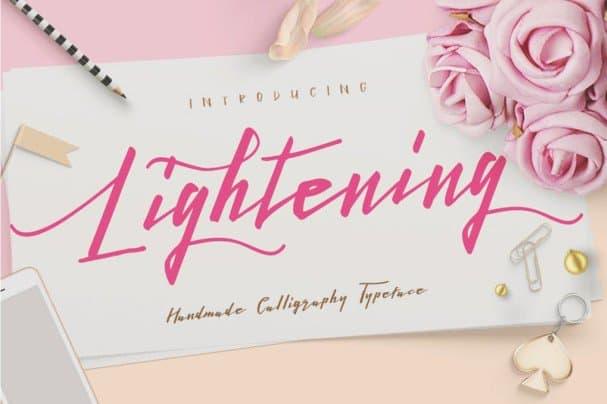 Download Lightening Script - Duo font (typeface)
