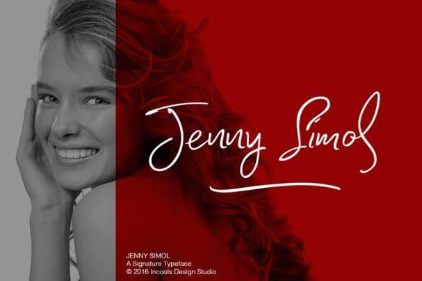 Download Jenny simol font (typeface)