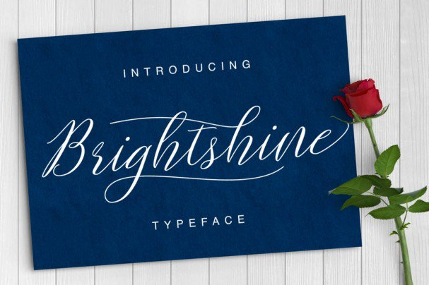 Download Brightshine Typeface font (typeface)