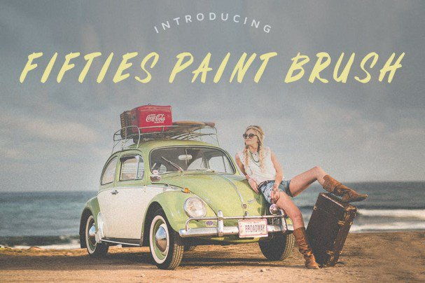 Download Fifties Paint Brush Font font (typeface)