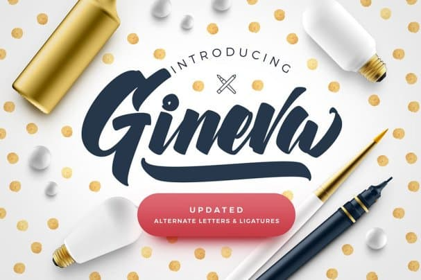 Download Gineva Script font (typeface)