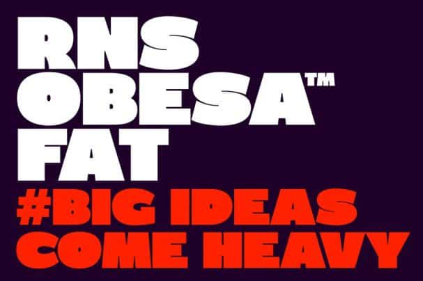 Download RNS Obesa Fat font (typeface)