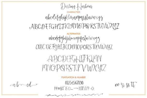 Download Darling Harbour Brush font (typeface)