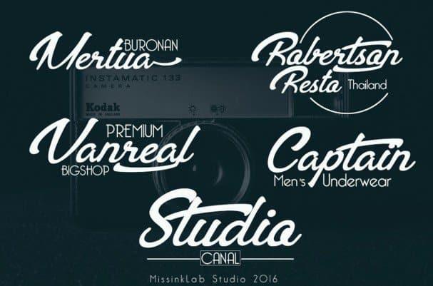 Download Bentoh modern typeface font (typeface)
