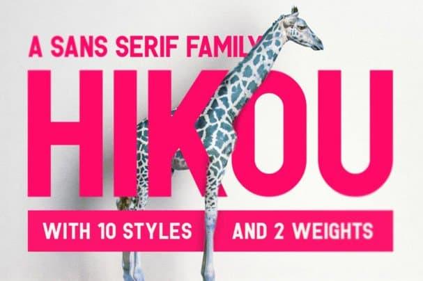 Download Hikou Typeface font (typeface)