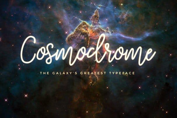 Download Cosmodrome Monoline Script font (typeface)