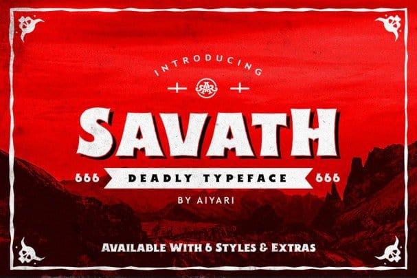 Download Savath font (typeface)