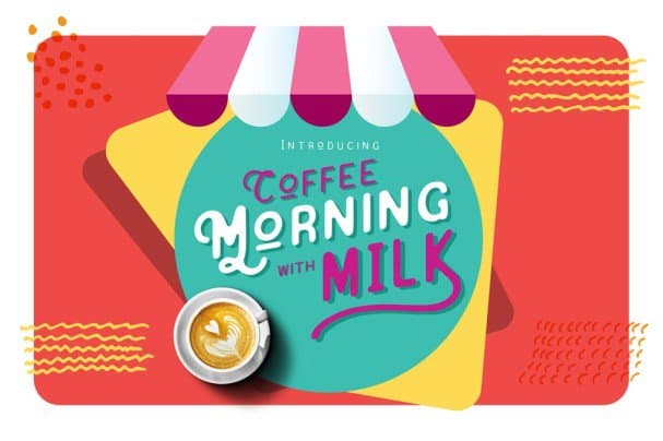 Download Coffee Morning with Milk font (typeface)