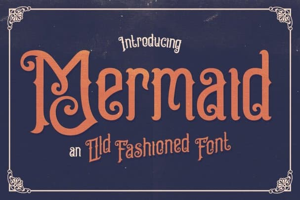 Download Mermaid Typeface font (typeface)