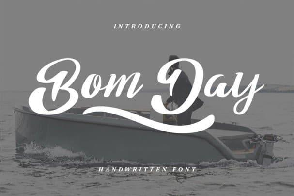 Download Bom Day Font font (typeface)