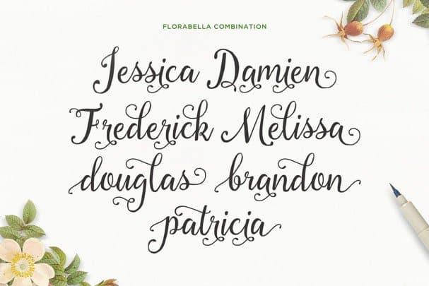 Download Florabella Script font (typeface)