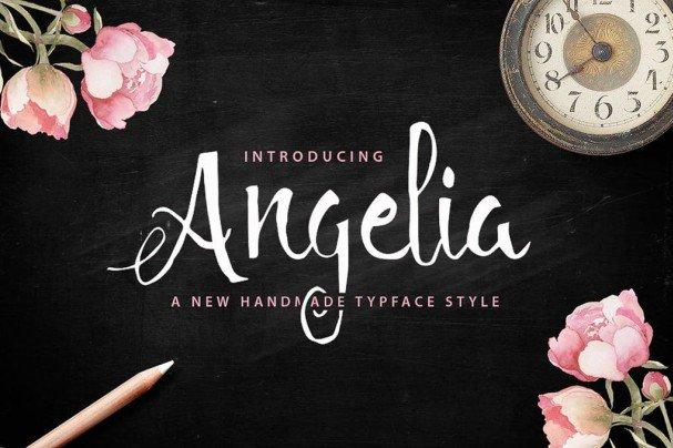 Download Angelia Script font (typeface)