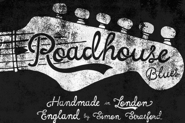 Download Roadhouse blues font font (typeface)