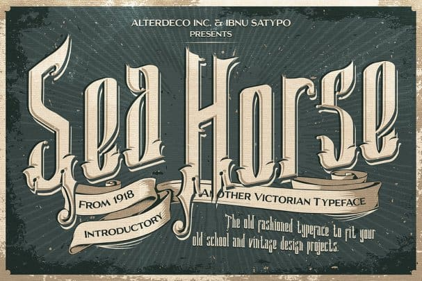 Download Sea Horse Typeface font (typeface)
