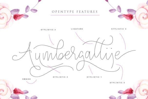 Download Angelova Monoline Script font (typeface)
