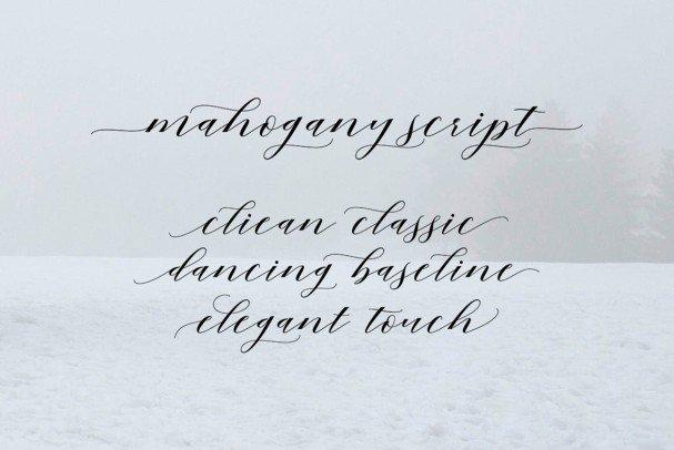 Download Mahogany Script font (typeface)