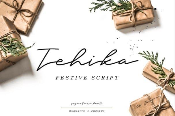 Download Tehika Script font (typeface)