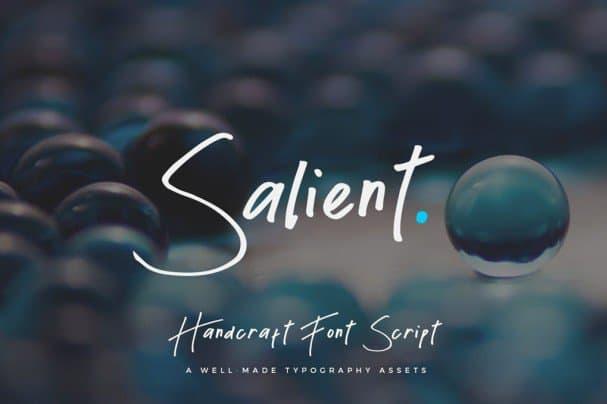 Download Salient - Handmade Script font (typeface)