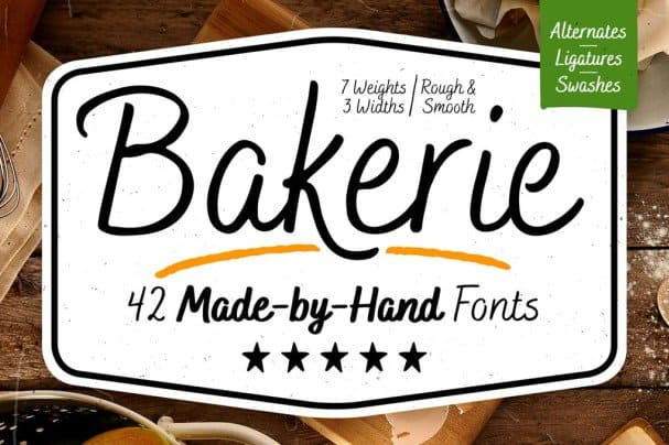 Download Bakerie Font Family font (typeface)