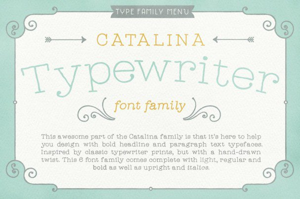 Download Catalina Typewriter font (typeface)