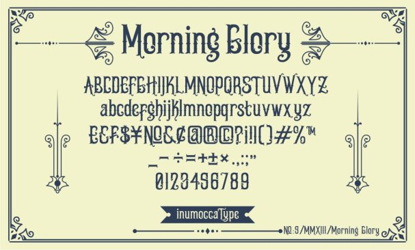 Download Morning Glory font (typeface)