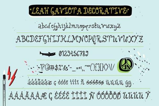 Download Leah Gaviota font (typeface)