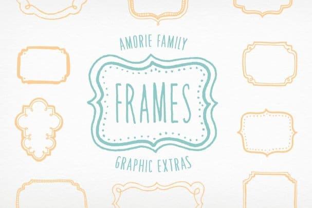 Download Amorie Extras - Frames font (typeface)