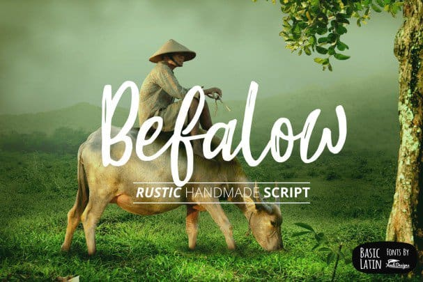 Download Befalow Rustic font (typeface)