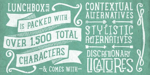 Download Lunchbox Slab Regular font (typeface)