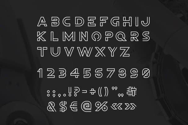 Download Freeline font (typeface)