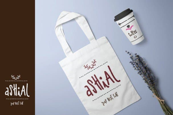 Download Ashial - Chalky Style font (typeface)
