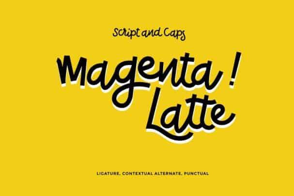 Download Magenta Latte font (typeface)
