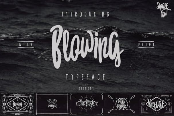 Download Blowing Typeface font (typeface)