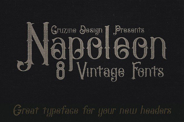 Download Napoleon Vintage Typeface font (typeface)