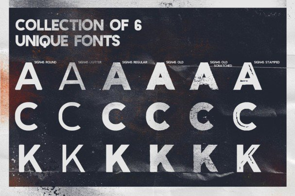 Download Sign 45 Typeface font (typeface)