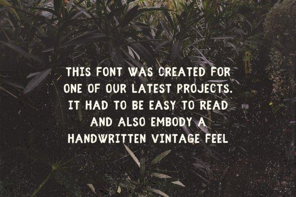 Download Fibre - Vintage font (typeface)