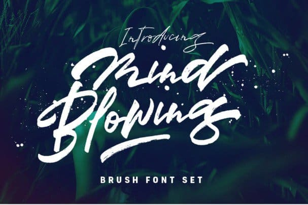 Download Mind Blowing 3 Brush Font Set font (typeface)