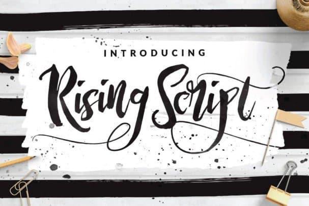 Download Rising Brush Script font (typeface)