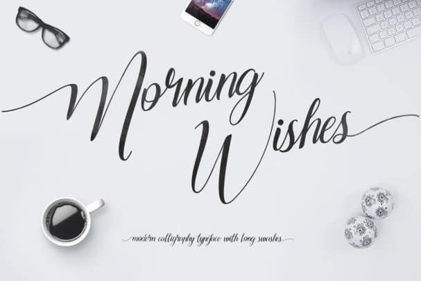 Download Morning Wishes font (typeface)