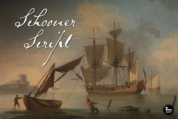 Download Schooner Script font (typeface)