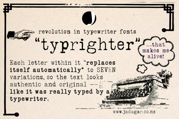 Download Typrighter font (typeface)