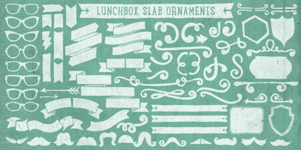 Download Lunchbox Slab Ornaments font (typeface)