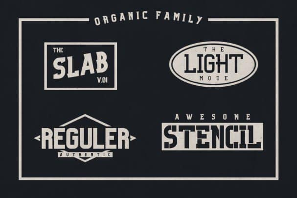 Download Organic Family font (typeface)