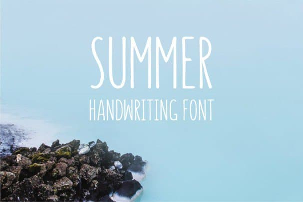Download Summer - Handwriting font (typeface)