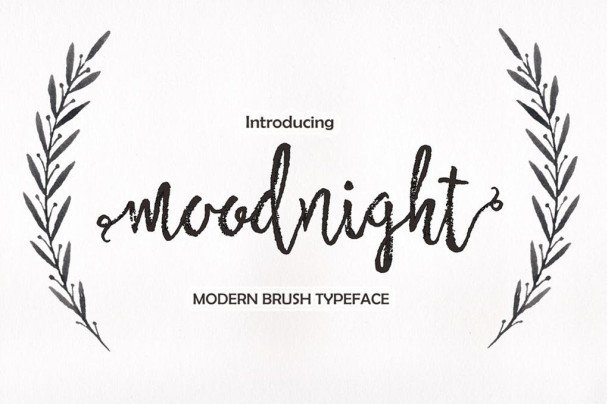 Download Moodnight Script font (typeface)